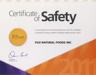 Certificate of Safety